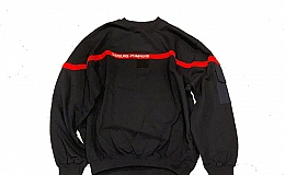 DEAD STOCK FRENCH FIREMAN SWEAT SHIRTS / 120 (3L)