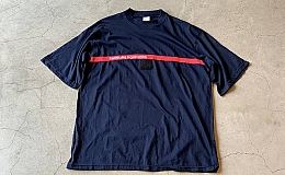 DEAD STOCK FRENCH FIREMAN T-SHIRT XXL NAVY