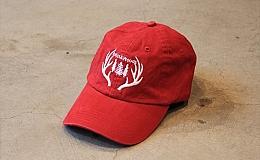 "Antler&Woods ""Big Antlers Dad Hat"" Weathered Red"