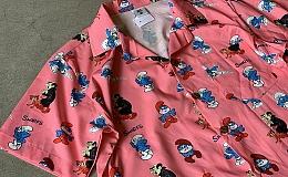 新品 Smurf S/S Shirt / size M / スマーフ / 半袖シャツ /ポリエステル