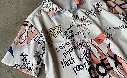 新品 Fire  S/S Shirt / size L/ ファイヤー/ 半袖シャツ /ポリエステル