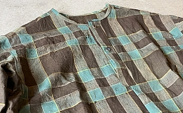 Pull Over Shirt / Japan vintage fabric /size one ②