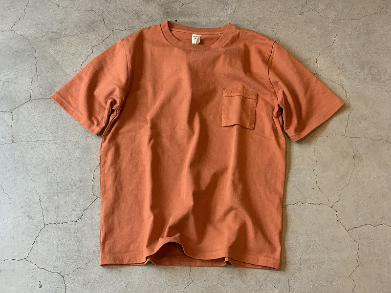 JACKMAN DOTSUME POCKET Tee / size XL / Baked Clay