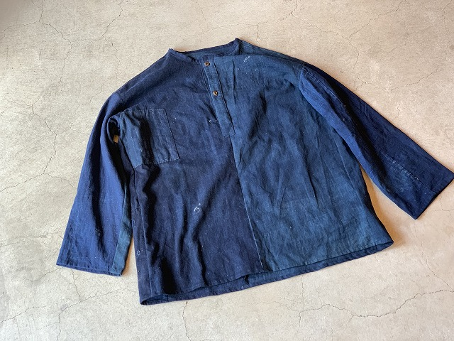 Pull Over Shirt / Japan vintage fabric /size one ③