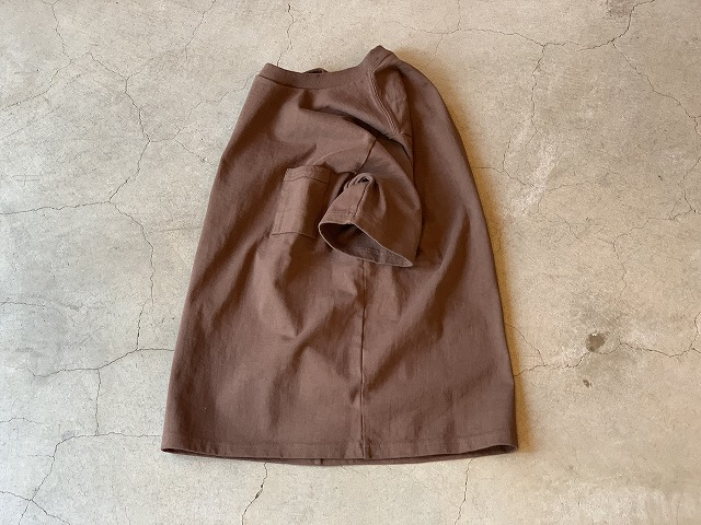 JACKMAN DOTSUME POCKET Tee / size M / BROWN